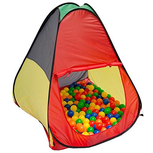 LittleTom Spielzelt Kinderzelt Pop-Up-Zelt JASPER | Bällebad Zelt für Drinnen und Draußen | Kinderspielzelt inkl. Aufbewahrungstasche | ohne Bälle
