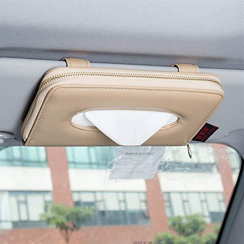 3 Papierfächer (FORTINGBAR Auto Tissue Box, hängende Sonnenblende Auto Creative Tray Papierserviette Farbe: Schwarz, Beige, Grau, Braun (Farbe : 3))