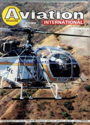 AVIATION MAGAZINE [No 774] du 15/03/1980 - QUEL NOUVEL AIRBUS - DE BRUXELLES ET DE WASHINGTON - FAITS ET COMMENTAIRES - ASTRONAUTIQUE - TELECOMMUNICATIONS ET BRACELETS-MONTRES - CHINE - DES AMBITIONS QUI Sâ AFFIRMENT - AVIATION GENERALE - AMATEURS - LE HORNISSE 2 DE FORMULE 1 - INFORMATIONS - CLUBS ACTUALITES - CADRAGES - MEXIQUE - UN VASTE MARCHE POUR LES HELICOPTERES - DEFENSE - LE LIGHTWEIGHT FIGHTER EST-IL UN MYTHE - EQUIPEMENTS - ERAM OU LE DYNAMISME Dâ UNE PME - HISTOIRE ET SPOTTING - SAL