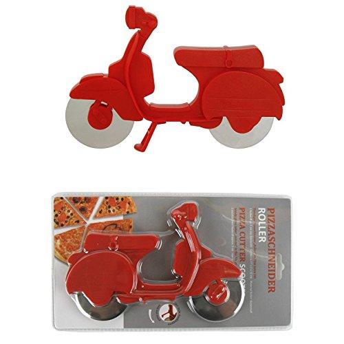 Rot Pizzaschneider Pizzamesser Pizza Schneider Messer Roller Vespa Scooter