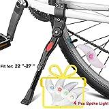 Pata de Cabra Bicicleta, VSTON Caballete Bicicleta Pata de Cabra Soporte Bici para Bicis de Montaña Soporte Bicicletas Suelo de Aluminio Negro