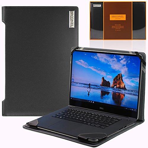 Broonel London – Profile Series – Luxus-Laptop aus schwarzem Leder für Dell XPS 15