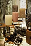 S.Metalldesign Edelrost Kerzenständer Sterne Höhe 33 cm auf Platte Advent Weihnachten