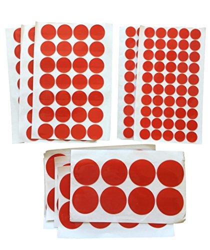 Doppelseitige Klebe-Flächen - Klebeband Kreise - EXTRA STARK Sticky Tape - 1mm Acryl Klebeschicht - Wiederlösbar TRANSPARENT für Bau Werkstatt - 100x 20mm 96x 30mm 40x 50mm (96x 30mm Durchmesser)