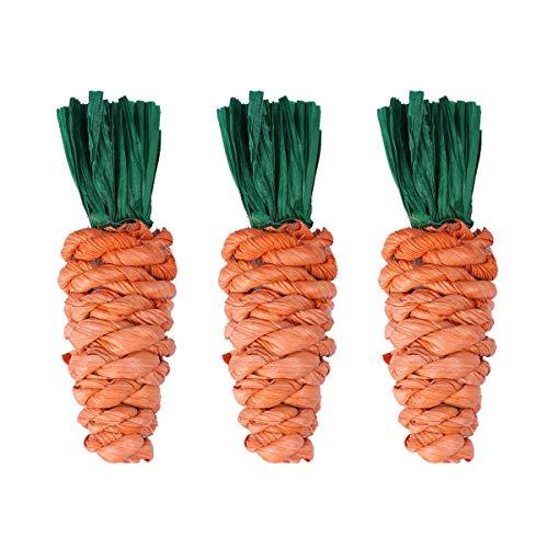 Amosfun 3 stücke Karotte Ostern Hund welpen Haustiere Spielzeug kauen zähne Reinigung Baumwolle Seil Spielzeug