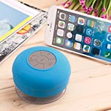 #9: Alcoa Prime Portable Waterproof Wireless Bluetooth Hands Mic Suction Speaker Subwoofer Shower Car Receive Call Music Suck Mic