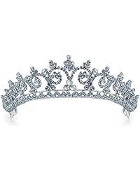 Bling Jewelry estilo Kate Middleton inpira Boda Real Halo Tiara