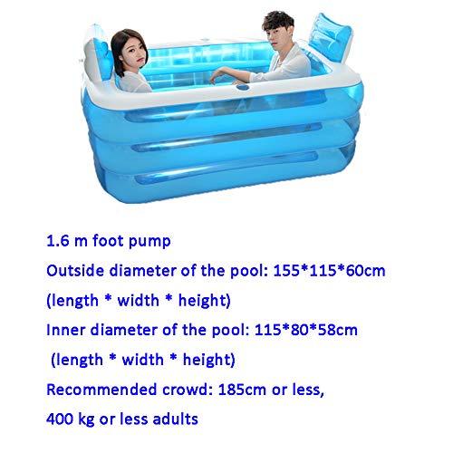 DENG&JQ Haushalt Aufblasbare Badewanne,Erwachsenen Badewanne Falten Paar Double Kunststoff