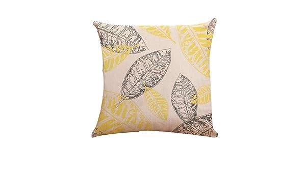 "Coton 18/"" Licorne Taie d/'oreiller canapé taille Throw Cushion Cover Home Décoration"