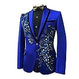 Judi Dench@ Matrimonio giacca modello maschile giacche smoking del partito di promenade uomo Blazer, Taglia 2XL, blu