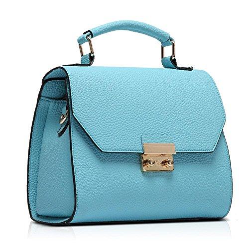 GBT Die neue Damen-Gezeiten-Schulter-Beutel-Handtaschen-Art- und Weisehandtaschen lake blue