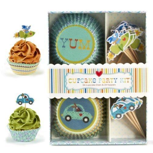 Cupcakes Y Cartwheels Coche De Perro Rocket Cupcake Party Kit 24 Moldes Para Adornos