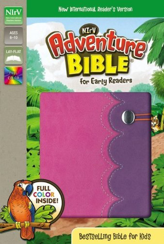 NIrV, Adventure Bible for Early Readers, Imitation Leather, Pink/Purple, Full Color by Lawrence O. Richards (2014-06-24)