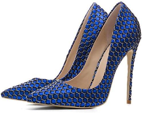 NVXIE Mujeres Zapatillas Corte Zapatos Puntiagudo Dedo del pie Estilete Señoras Alto Tacón Negro Fiesta Vestir...