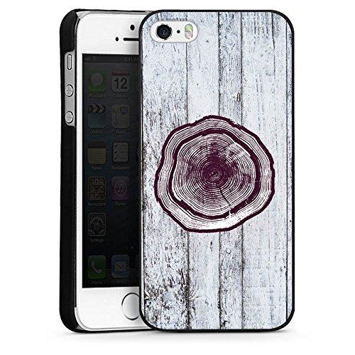 Apple iPhone 4 Housse Étui Silicone Coque Protection Tronc Look bois Tronc d'arbre CasDur noir