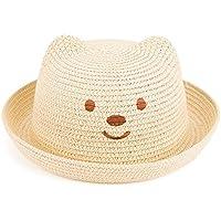 Leisial Niños Bebé Sombrero de Paja Playa Sombrero de Osoito Gorro de Sol de  Ocio al aa772afbb25