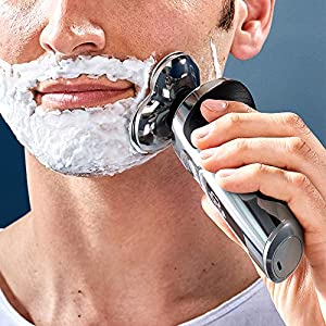 Philips Series 9000 Prestige Wet & Dry Electric Shaver with Qi Charging Pad, Smartclick Beard Styler and Facial Cleansing Brush - SP9863/14