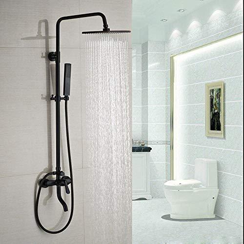 GFF Zwei Stil In-Wand 8 'Regendusche Mischbatterien mit Wanneneinlauf mit Handbad Dusche Wasserhahn Öl eingerieben Bronze, B