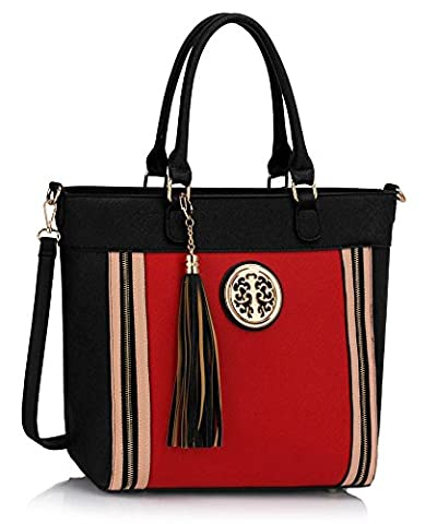 Ladies Fashion Quality Gorgeous Celebrity Large Tassel Tote Bag Women's Faux Leather Trendy Handbag CWS00404