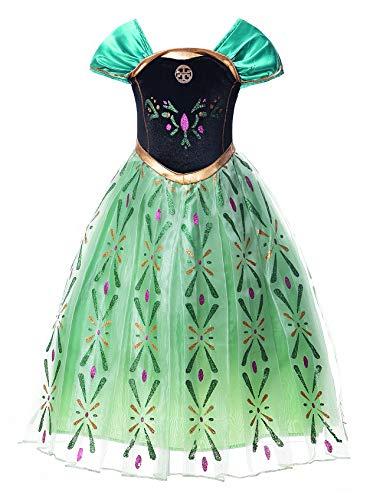 JerrisApparel Principessa Partito Costume Cosplay Vestire (110cm, Verde)
