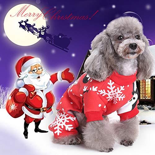Idefair Weihnachten Pet Katze Hund Kleidung Kleidung, Schneeflocke Puppy Hoodie Hundemantel Pullover Jacke, Pet Kostüm für Kleine mittel großer Hund Cat Kitty S M L XL - Pet Kostüm Für Kleine Hunde