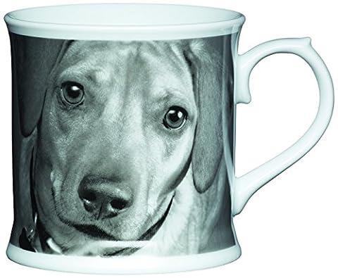 Kitchen Craft 400 ml Porcelain Dachshund Tankard Shaped Mug, Multi-Colour