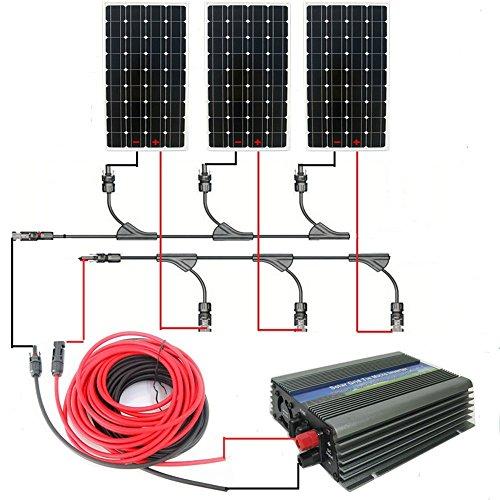 Eco worthy 500 w panneau solaire syst me kit complet 3 160 w 12 v monocristallin panneaux - Panneau solaire quelle puissance ...