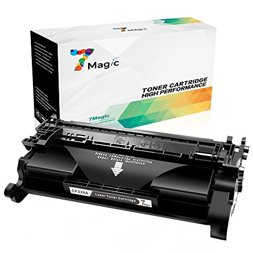 HP 26A Kompatibel,7Magic Toner Patronen HP 26A CF226A kompatibel für HP Laserjet Pro MFP M426DW M426FDW M402DNE M402DN M402D M402N Drucker (1 Schwarz - 3,100Seiten)