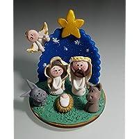 Nacimiento Belen Pesebre Realizado a mano en Porcelana fria Navidad