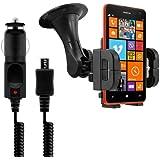 kwmobile Support pour Nokia Lumia 625 + chargeur - Le portable rentre dans le support même avec sa housse ou son boîtier!