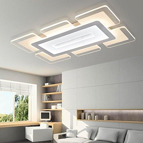 Iluminación Techo Dormitorio AcrílicoWhite9060 Delgada Estar Sslw Lámpara De Led Minimalista Sala Creativa Moderna 53RjL4A