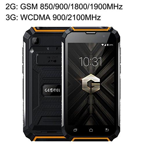 Refurbished Handys (Smartphone, G1anti-téléphone Intelligentes Android 7.0Dual Sim Dual Stand 2+ 16G, wasserdicht und staubdicht 3g Smartphone 5.0Daumen Quad Core Dual SIM Handy)