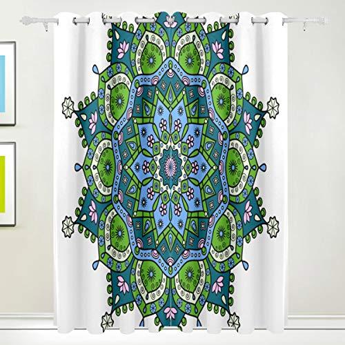 hänge für Wohnzimmer, Schlafzimmer, Küche, 2-teilig, 140 x 213 cm, Blaugrün/Pink ()
