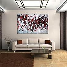 YESURPRISE Impresión En Lienzo Nuevo Para Pared Decoración Hogar Sala Cocina Dormitorio Arte Abstracto Rojo Blanco Negro (sin marco o bastidor)