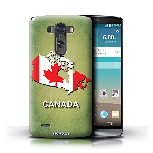 Kobalt® Imprimé Etui / Coque pour LG G3/D850/D855 / Chine/Chinois conception / Série Drapeau Pays Canada