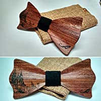 Pajarita de madera de Bubinga