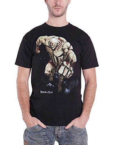 Attack on Titan T Shirt Titan Monster Manga Official Mens Black