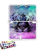 Ultraflache weiche Schutzhülle NINTENDO NEW 3DS XL (LL) [Tiger Galaxy] [Durchsichtig] von MUZZANO + STIFT und MICROFASERTUCH MUZZANO® GRATIS - Das ULTIMATIVE, ELEGANTE UND LANGLEBIGE Schutz-Case für Ihr NINTENDO NEW 3DS XL (LL)
