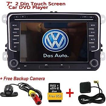 Doble 2 Din pantalla t¨¢ctil capacitiva est¨¦reo DVD del coche de la c¨¢mara reproductor de v¨ªdeo GPS Nav + Smartphone MirrorLink para VW POLO Jetta ...