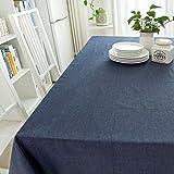 Qiao jin Tischdecke Rechteckige Tischdecke aus Einfarbiger Baumwolle - Baumwolle Rechteckige Tischdecke aus Baumwolle/Leinen (rechteckige Platte - 130cm) (Farbe : C, größe : Rectangular -130 * 350cm)