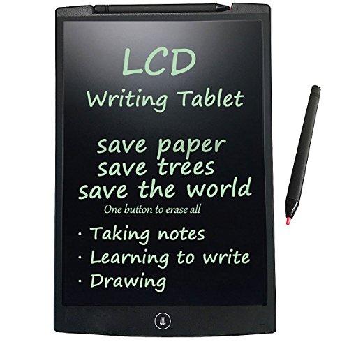 LCD Tablet, BACAKSY 12-Zoll Grafiktablett LCD Schreibtafel Writing Tablet Board Digital Tablett für schnelles Schreiben Malen Notizen Hause Office Schreiben Zeichnung mit Magic Eraser Stylus-Black