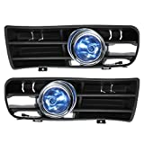 GOZAR Blue Front Fog Led Lampe Untere Kühlergrill Für 98-04 Vw Golf Mk4