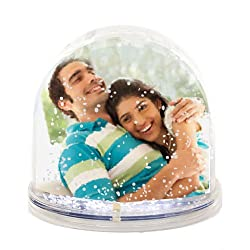 Valentines Day Gifts Snow Globe Photo Frame for Girlfriend, Friends
