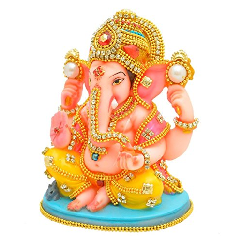Papilon-Handmade-Gold-Plated-Ganesh-Ji-Spiritual-idols-Decorative-Puja-Vastu-Showpiece-Religious-Pooja-Gift-item-Murti-for-Mandir-TempleHome-Decor-Office