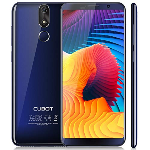 Cubot Power 4G-LTE Dual SIM Smartphone ohne Vertrag, 5.99 Zoll (18: 9) FHD+ Touch Display mit 6000 mAh Akku, 6GB Ram+128GB Rom, 20MP Hauptkamera / 13MP Frontkamera, Android 8.1 2.5GHz Octa-Core, Blau