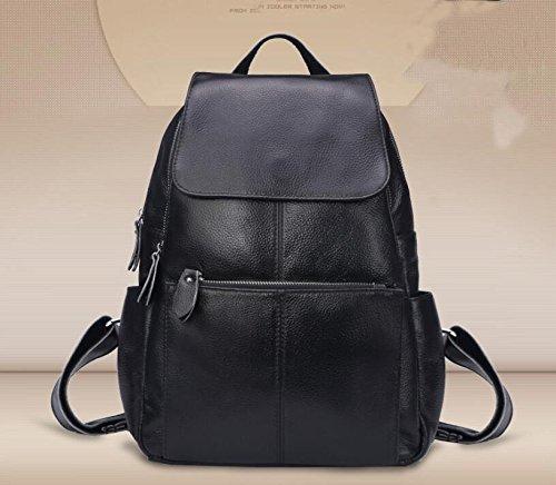DJB/ Erste Schicht Leder Rucksack Taschen Gepäck Rucksäcke Leder Frauen Tasche Black