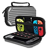 Osla Sacoche Switch Housse Nintendo Switch Portable Etui De Transport Pochette De Protection Sac de Coquille Dure pour Jeux Mario Party Capitaine Crapaud Zelda Smash Bros Pokemon Switch Stockage Gris