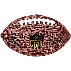 """Wilson, American Football, Ballon de Football Américain, NFL Micro """"The Duke"""", Pour enfants, pour loisirs et collectionneurs, 17 x 10 cm, Brun, PVC, F1637"""