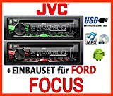 Ford Focus MK1 - JVC KD-R469E - CD/MP3/USB Autoradio - Einbauset