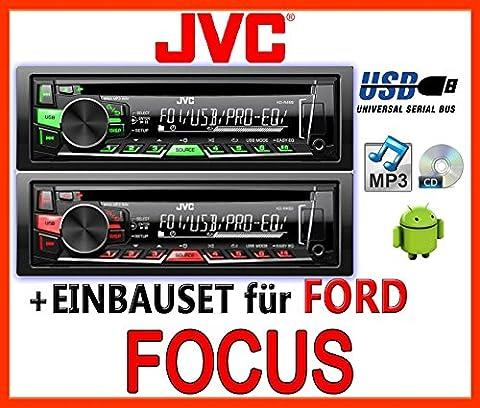 Ford Focus MK1 - JVC KD-R469E - CD/MP3/USB Autoradio - Einbauset